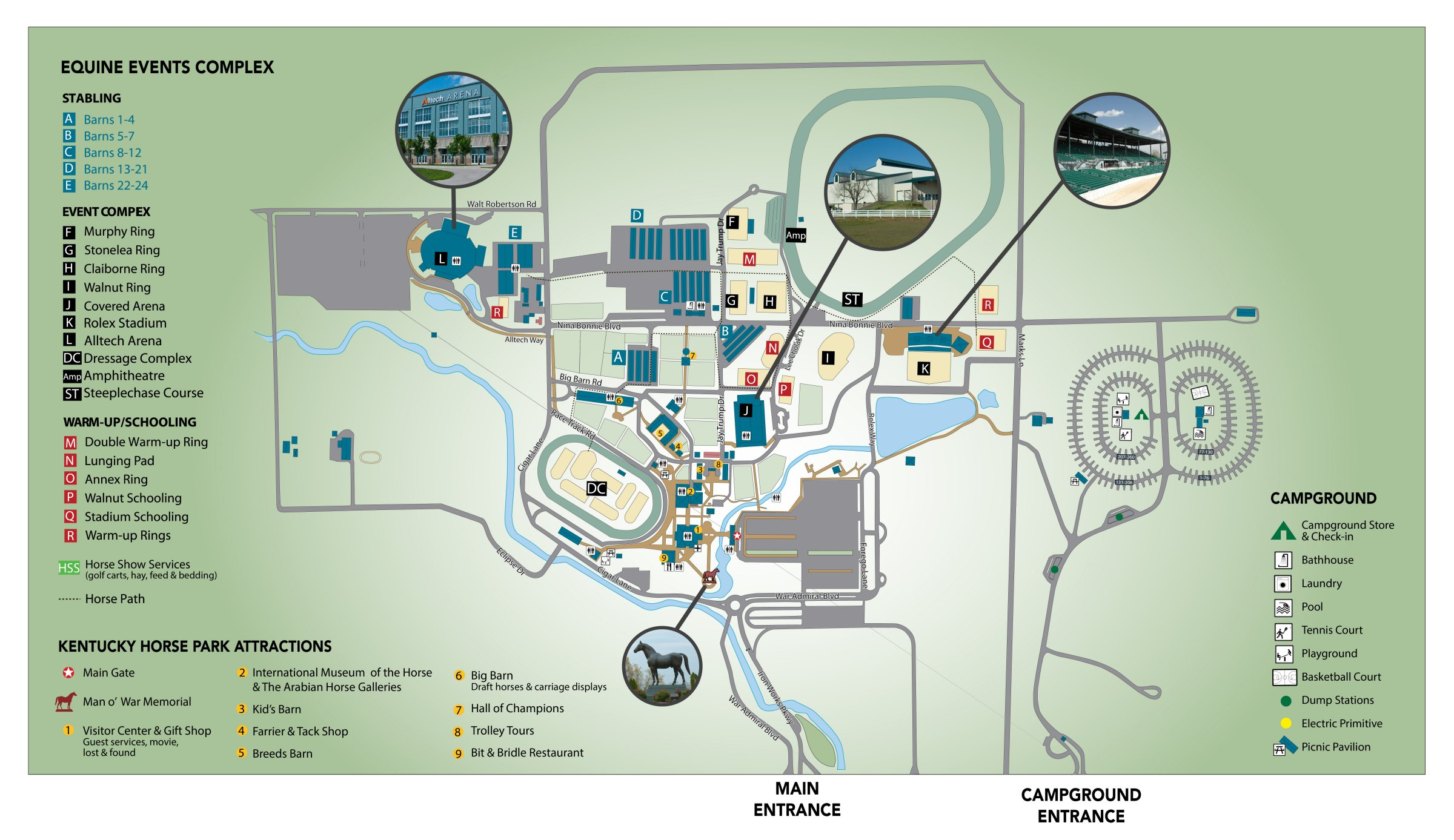 Kentucky Horse Park Map